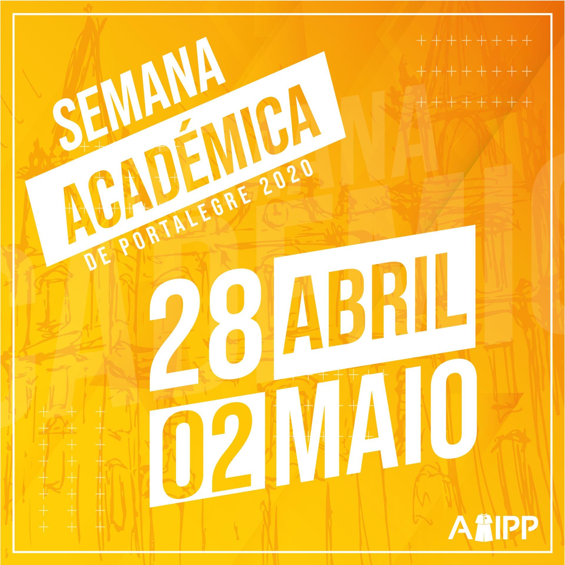 CromWrb com as datas da Semana Académica de Portalegre 2020 - 28 de abril a 2 de maio